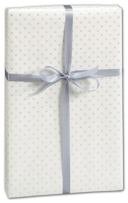 "Glitter Dot Gift Wrap, 30"" x 208'"
