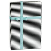 "Black & White Stripe Gift Wrap, 30"" x 417'"