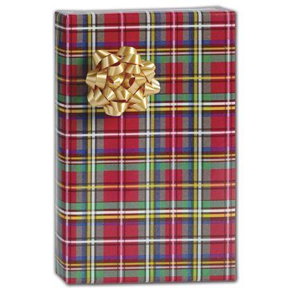 "Tartan Gift Wrap, 30"" x 208'"