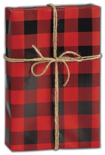 Buffalo Plaid Gift Wrap, 30
