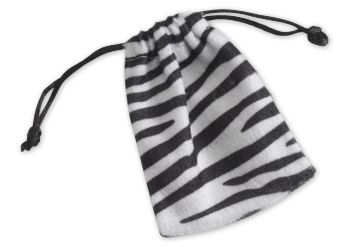 Zebra Drawstring Bags, 3 x 4