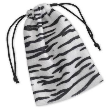 Zebra Drawstring Bags, 4 x 6