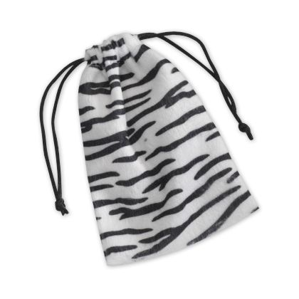 "Zebra Drawstring Bags, 4 x 6"""