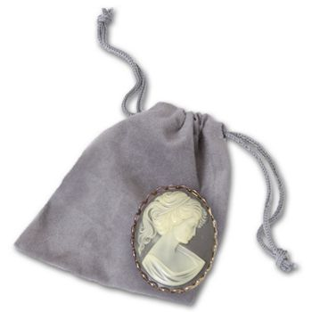 Silver Velveteen Pouches, 2 x 2 1/2
