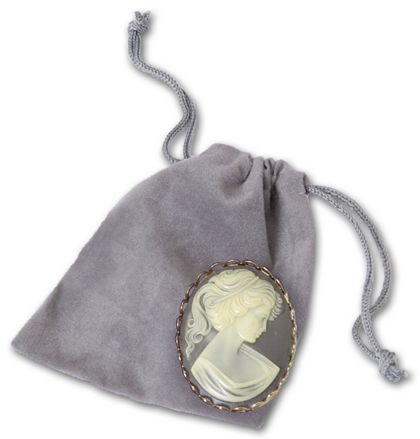 Silver Velveteen Pouches, 2 x 2 1/2""