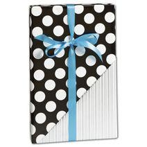 """Black & Silver Reversible Gift Wrap, 30"""" x 417'"""