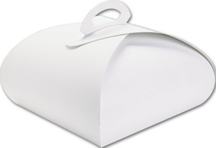 White Bake Away Carriers, 10 x 10 x 4 1/2""
