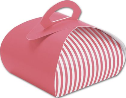 """Pink with White Stripes Bake Away Carriers, 7 x 7 x 4"""""""