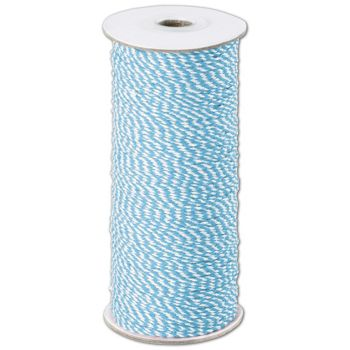Aqua and White Premium Bakers Twine, 2 MM x 250 Yds