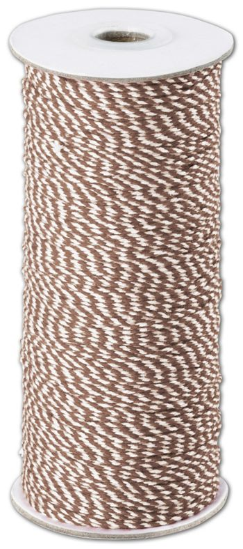 Brown and White Premium Bakers Twine, 2 MM x 250 Yds