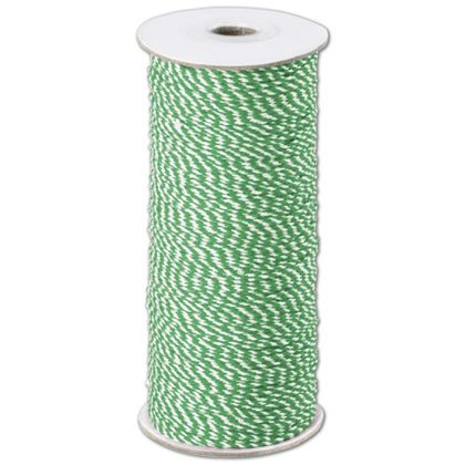 Green and White Premium Bakers Twine, 2 MM x 250 Yds