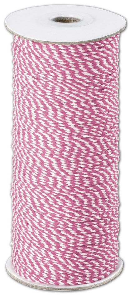 Pink and White Premium Bakers Twine, 2 MM x 250 Yds