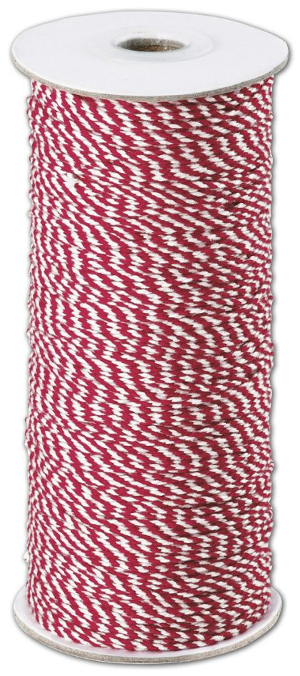 Red and White Premium Bakers Twine, 2 MM x 250 Yds