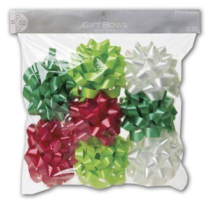 "Christmas Gift Bows, 3 1/2"" Diameter"