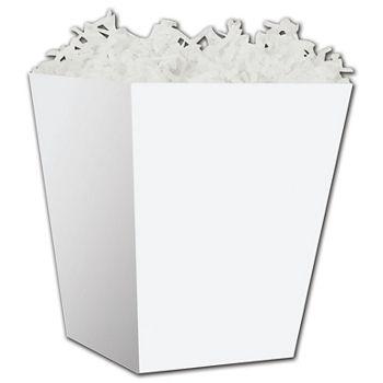 White Sweet Treat Boxes, 4 x 4 x 4 1/2