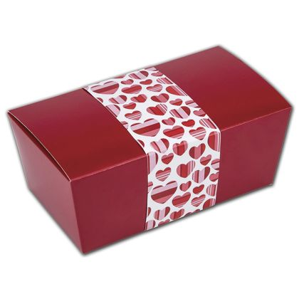 """Valentine Belly Bands, 3 1/4 x 17"""""""