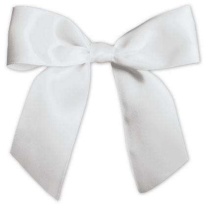 "White Pre-Tied Satin Bows, 7/8"" Ribbon x 3"" Bow Width"