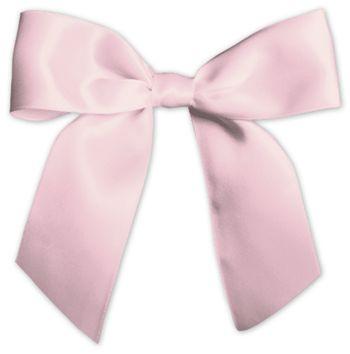 Pink Pre-Tied Satin Bows, 7/8