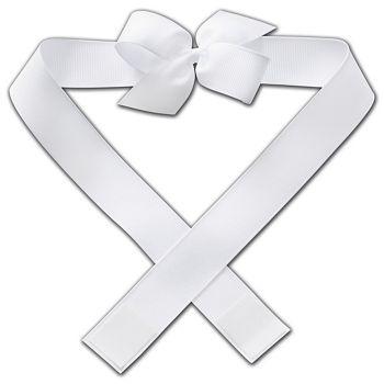 """White Primo Pre-Tied Bows, 4"""" Bow"""