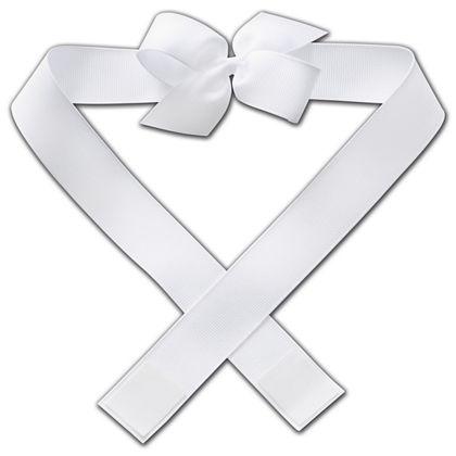 """White Primo Pre-Tied Bows, 3"""" Bow"""