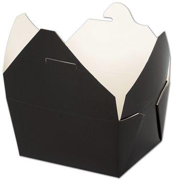 BIOPAK(r) Black Food Containers, 4 3/8 x 3 1/2 x 2 1/2