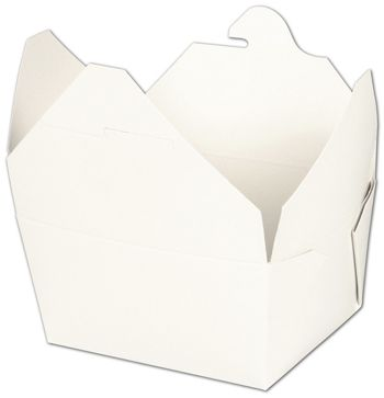 BIOPAK(r) White Food Containers, 4 3/8 x 3 1/2 x 2 1/2