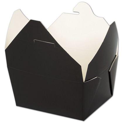 "BIOPAK(r) Black Food Containers, 5 x 4 1/2 x 2 1/2"""