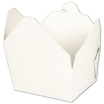 BIOPAK(r) White Food Containers, 5 x 4 1/2 x 2 1/2