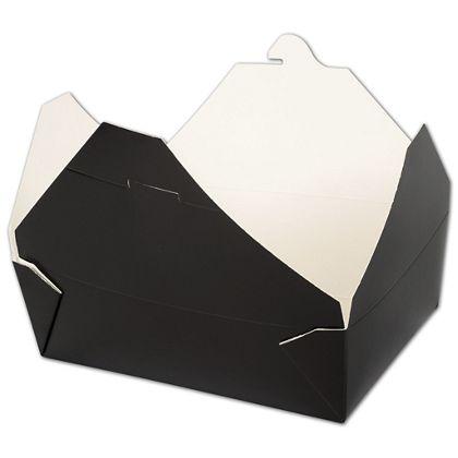 "BIOPAK(r) Black Food Containers, 7 3/4 x 5 1/2 x 2 1/2"""