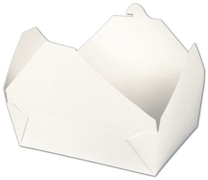 BIOPAK(r) White Food Containers, 7 3/4 x 5 1/2 x 2 1/2""