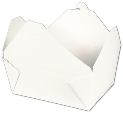 """BIOPAK(r) White Food Containers, 7 3/4 x 5 1/2 x 3 1/2"""""""