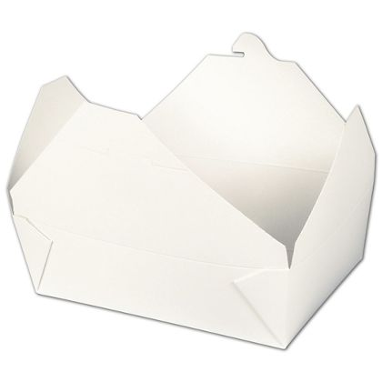 """BIOPAK(r) White Food Containers, 8 1/2 x 6 1/4 x 2 1/2"""""""
