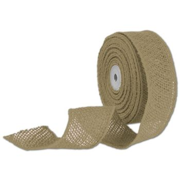 Natural Wired Burlap Ribbon, 2