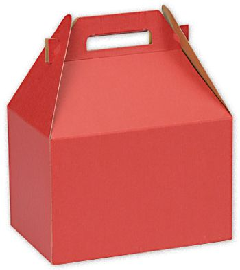 Really Red Large Gable Boxes, 9 x 6 x 6