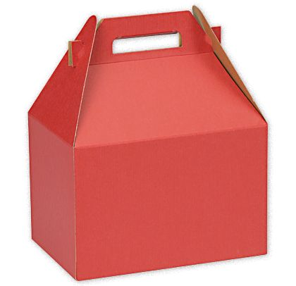 """Really Red Large Gable Boxes, 9 x 6 x 6"""""""