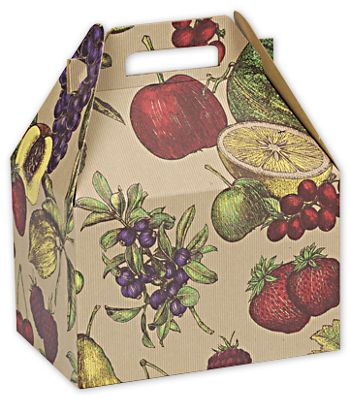 Fruit Bowl Large Gable Boxes, 9 x 6 x 6
