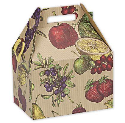 "Fruit Bowl Large Gable Boxes, 9 x 6 x 6"""