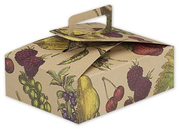 Fruit Bowl Stackable Deli Boxes, 9 x 7 x 3