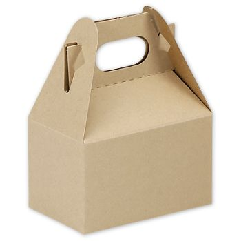 Natural Kraft Mini Gable Boxes, 4 x 2 1/2 x 2 1/2
