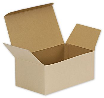Natural Kraft Stackable Meal Boxes, 8 x 4 7/8 x 3 1/2