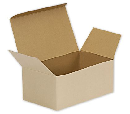 Natural Kraft Stackable Meal Boxes, 8 x 4 7/8 x 3 1/2""