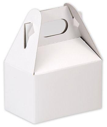 White Kraft Mini Gable Boxes, 4 x 2 1/2 x 2 1/2