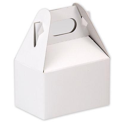 """White Kraft Mini Gable Boxes, 4 x 2 1/2 x 2 1/2"""""""