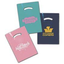 """Colored Die-Cut Plastic Bags, Custom Printed, 9 x 12"""""""