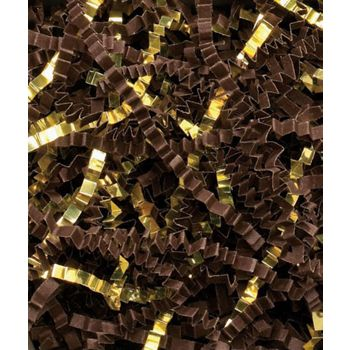 Chocolate/Gold Metallic Crinkle Cut Blend Fill, 40 lb Box