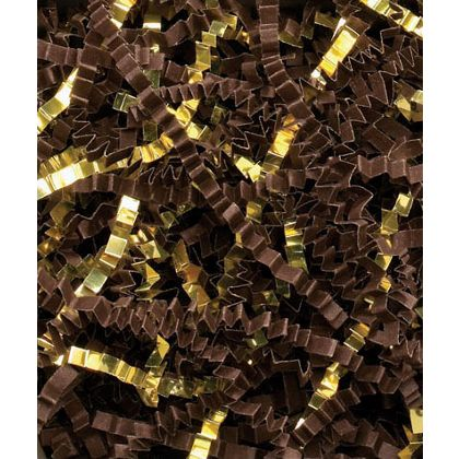 Chocolate/Gold Metallic Crinkle Cut Blend Fill, 40 lb Box