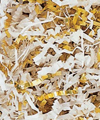 Gold & White Metallic Crinkle Cut Blend Fill, 40 lb Box