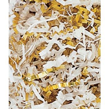 Gold & White Metallic Crinkle Cut Blend Fill, 40 lb Box