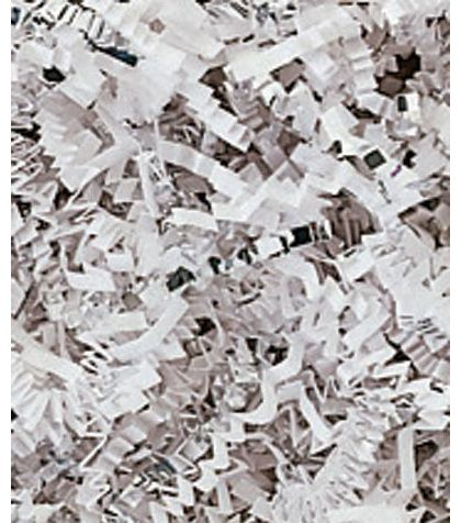 Silver & White Metallic Crinkle Cut Blend Fill, 40 lb Box
