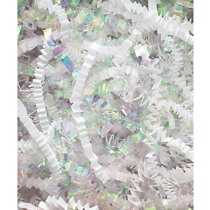 White & Iridescent Metallic Crinkle Cut Blend Fill, 40 lb